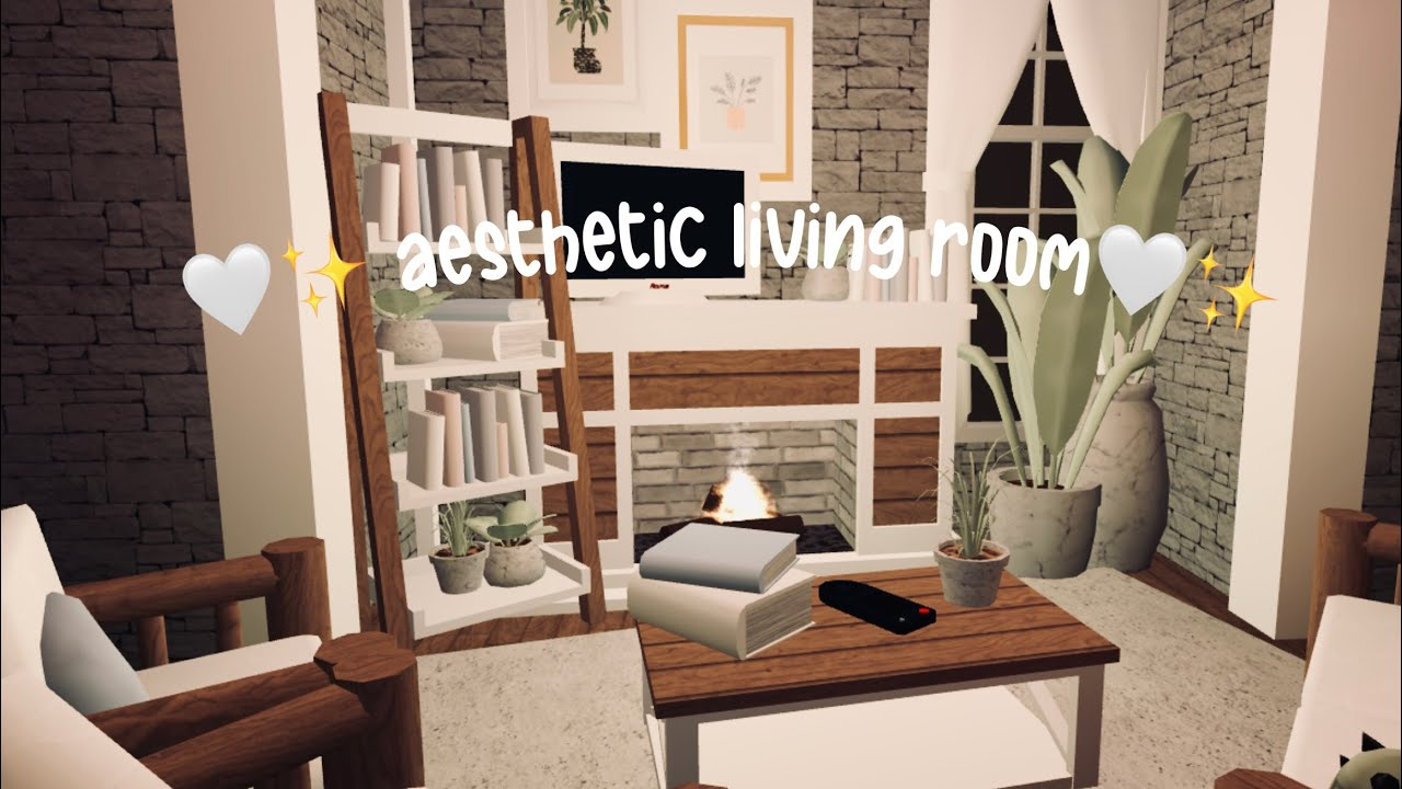Cute Small Aesthetic Living Room Bloxburg Roblox Youtube