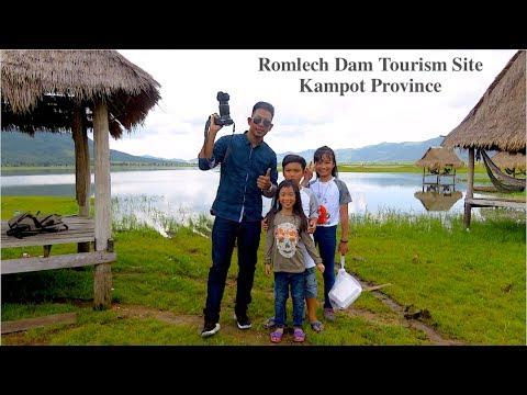 Lunch Break at Romlech Lake in Kampot Province Cambodia | Romlech Dam Tourism Site in Asia