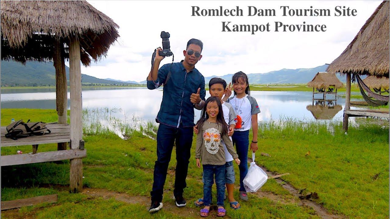 Lunch Break at Romlech Lake in Kampot Province Cambodia   Romlech Dam Tourism Site in Asia