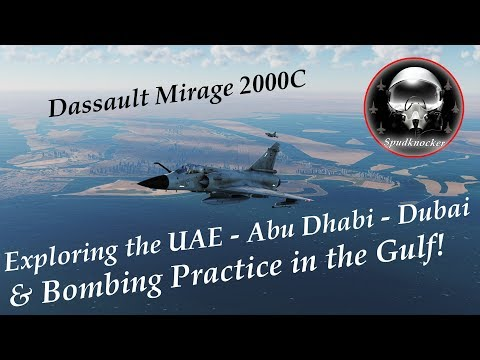 DCS: Persian Gulf Map | Exploring the UAE | Abu Dhabi | Dubai | & Bombing Practice