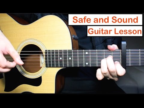 Safe and Sound - Taylor Swift Guitar Lesson Tutorial Chords ft. Civil Wars