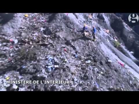 Germanwings crash site  a look on the ground   video   World news   The Guardian