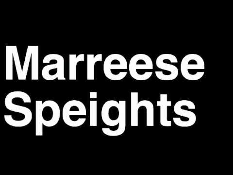 How to Pronounce Marreese Speights Memphis Grizzlies NBA Basketball Player Runforthecube