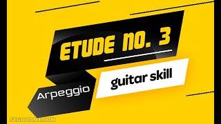 Этюд  для классической гитары из альбома гитариста. Комбинаторное арпеджио.