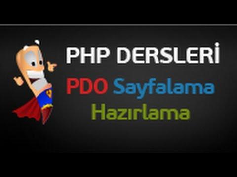 php dersleri 102  php pdo ile gelişmiş sayfalama yapımı