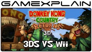 Donkey Kong Country Returns 3D vs. Wii (Head-to-Head Comparison Video)
