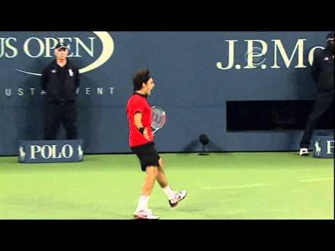 Roger Federer greatest shot ever at the US Open