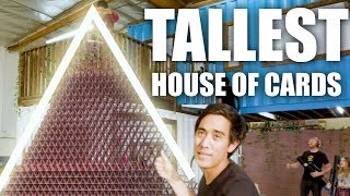 Tallest House of Cards - Attempting to Break the Record