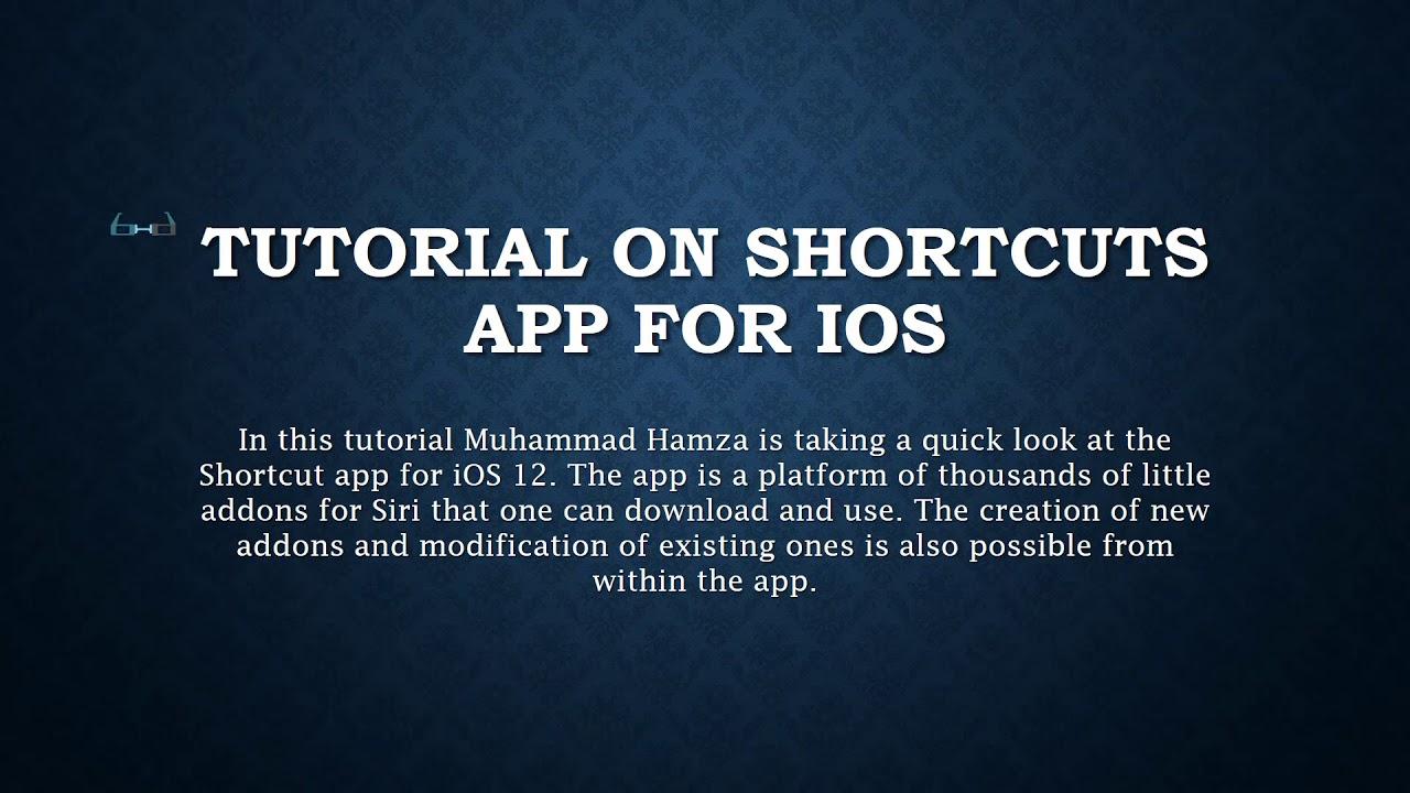English Tutorial: Shortcuts App on iOS