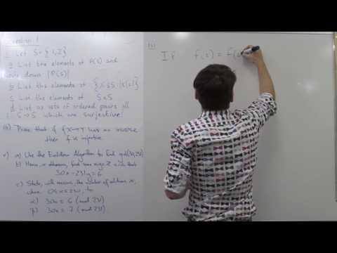MATH1081 final exam revision