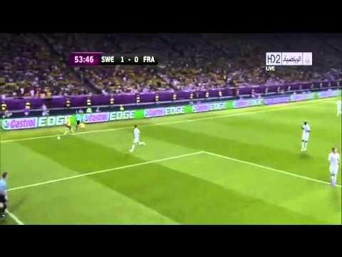 "Ibrahimovic fantastic goal vs france ""EURO 2012 ""."