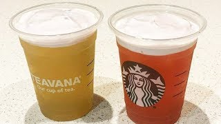 Starbucks ADDS Refreshing Cold Foam Tea Lemonades To Their Menu