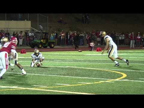 69 Yard Field Goal Attempt Regis vs Mullen Football