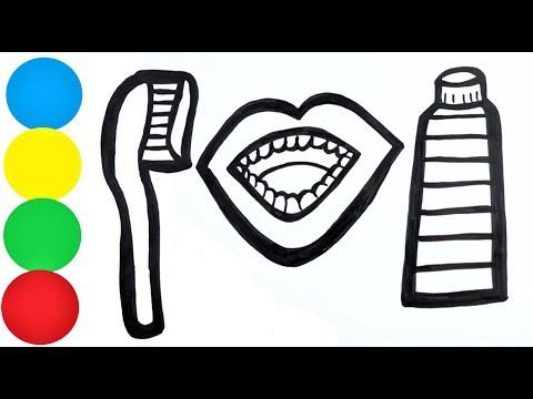 Zahnbürste Malvorlage