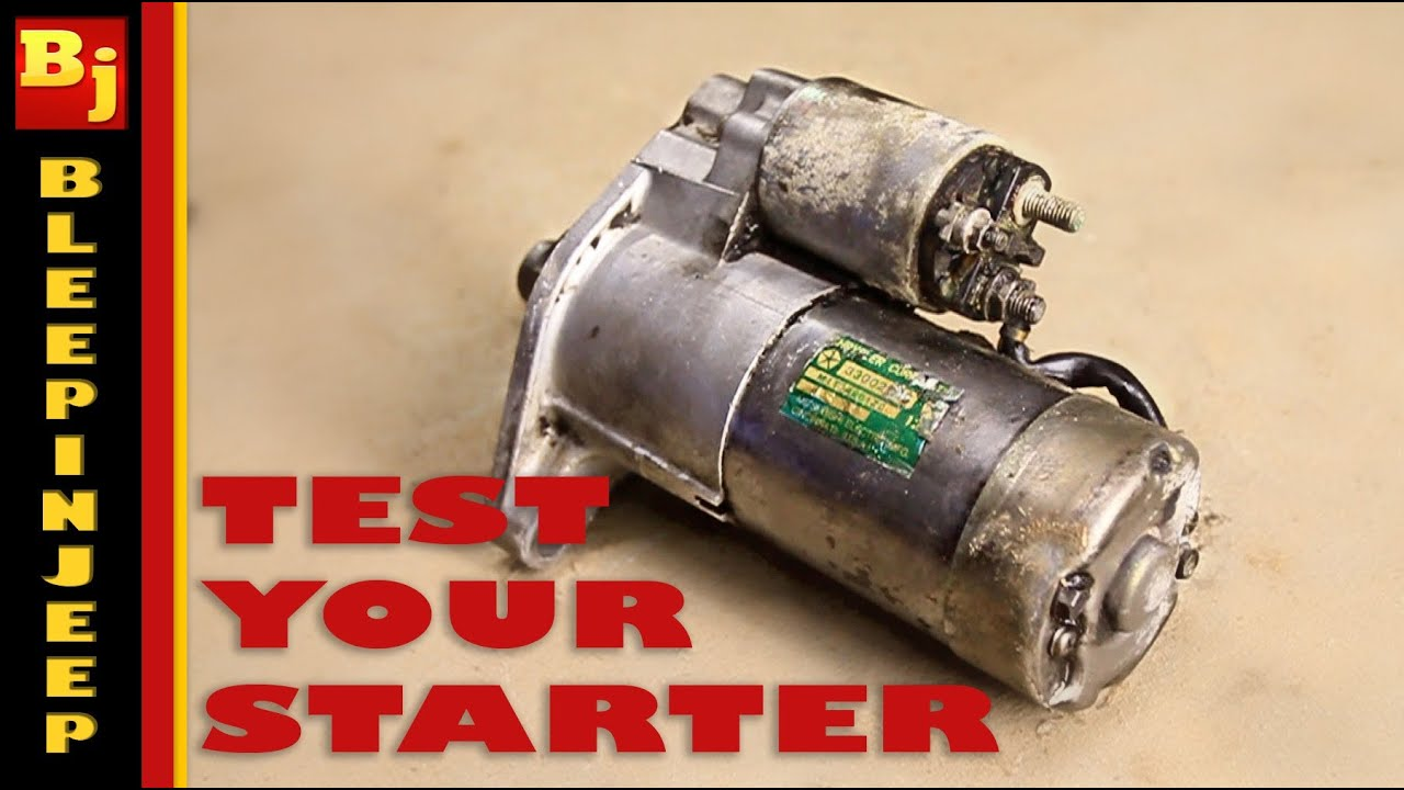 Starter Motor Testing In The Vehicle Engine Electrical Systems