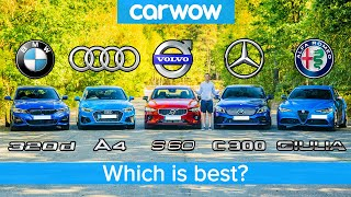 BMW 3 Series v Audi A4 v Merc C-Class v Volvo S60 v Alfa Giulia - which is best?
