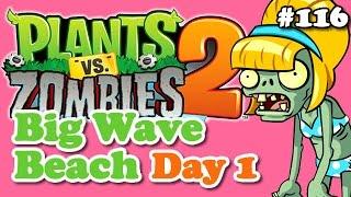 Plants vs. Zombies 2 - Big Wave Beach Day 1 - Praia da Boa Onda