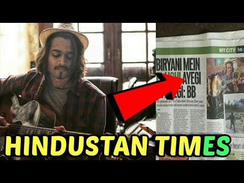 BB KI VINES FEATURED IN HINDUSTAN TIMES NEWS PAPER - SANG HOON TERE SOON | LOGAN PAUL, TGFbro, FM |