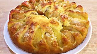 Пирог с Фруктами Без Замеса Теста Вкусный и Нежный Дрожжевой Пирог с Фруктами