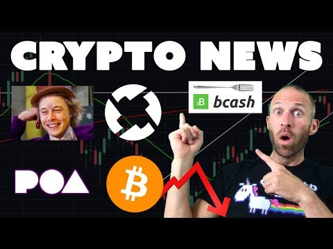 $10K Rejects BTC | Bcash Hard Fork | Musk Schools Buffet | Crypto on TV | $0x $POA $NEO $XRP