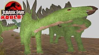 "Jurassic Park (Roblox)-great herbivore, hungry Dinosaur ""Stegosaurus""-(#8) (Gameplay EN-BR)"
