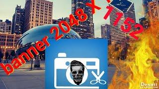 Como crear una foto de banner medida 2048 x 1152 para YouTube