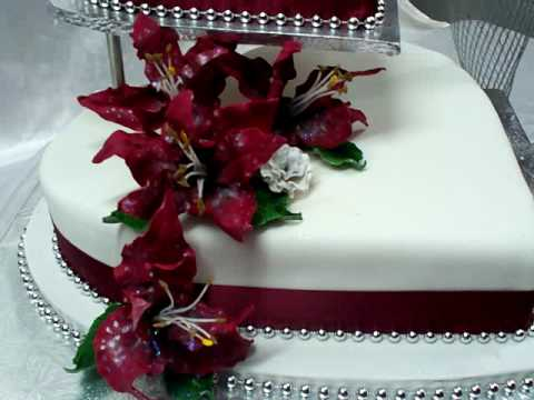 Guru Chef Rohan Creates A Maroon Lily Wedding Cake Youtube