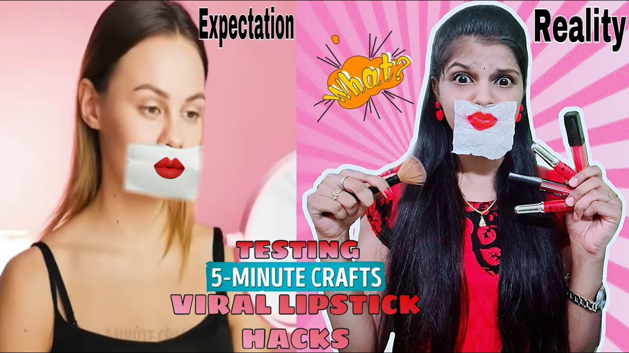 TESTING OUT VIRAL LIPSTICK HACKS by 5 minute crafts [TAMIL]