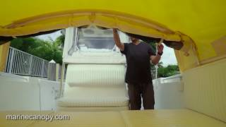 Marine Canopy - The Element - Boat Shade for center console boats - Functionality Video