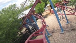 Ant Farm Express front seat on-ride HD POV Wild Adventures