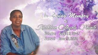Celebrating The Life of Kathleen Angela Hunte