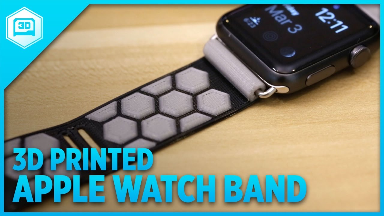 brand new 7d4e2 cca7d 3D Printed Band for Apple Watch