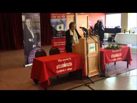 Chief Justice Denham to Griffith College Law Society