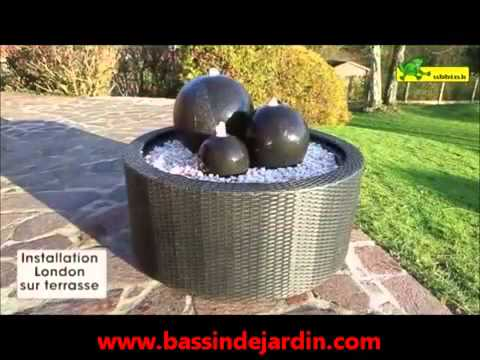 Installer ou monter fontaine de jardin - YouTube