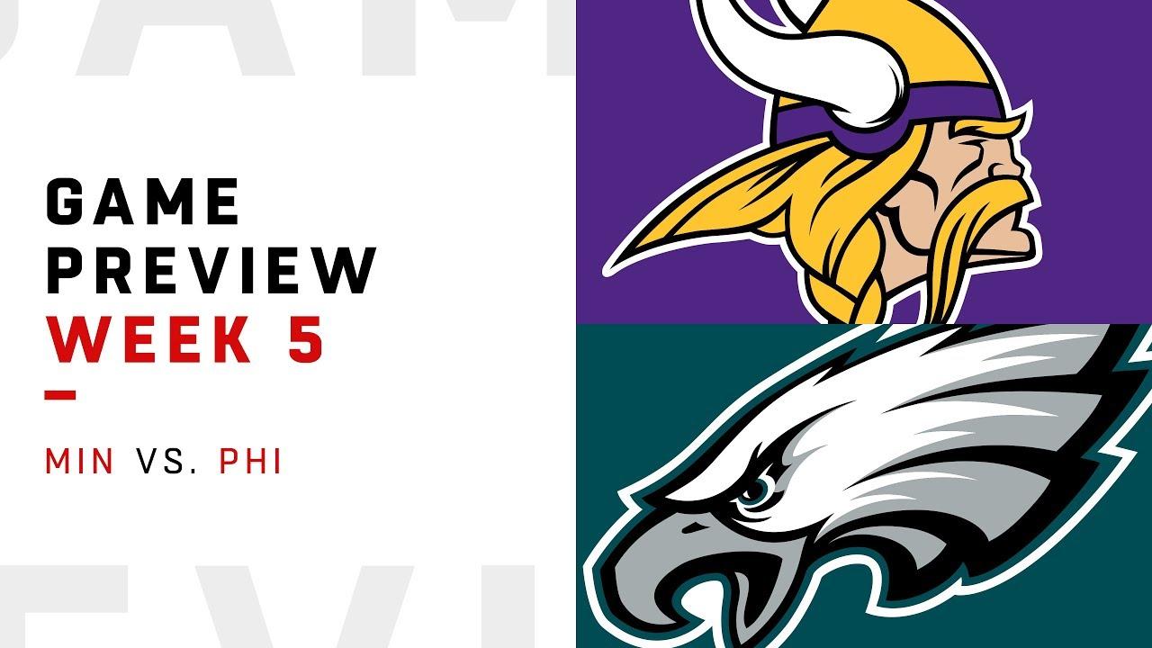 low priced 2b428 5b2f1 Philadelphia Eagles versus Minnesota Vikings, Week 5  How to watch
