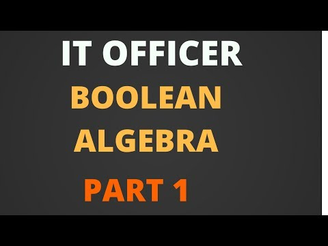 Boolean Algebra Part 1- IBPS And SBI IT Officer [Hindi]