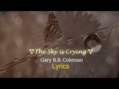 Gary B.Bn - The Sky is Crying Lyrics 🌈