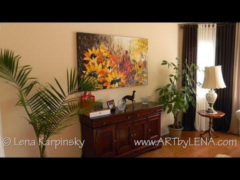 Unframed Paintings in Interiors :: ART by LENA Karpinsky