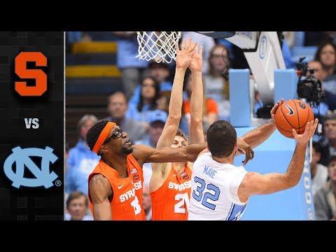 Syracuse vs. North Carolina Basketball Highlights (2018-19)