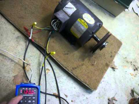 220 volt 3 phase 1 5 hp electric motor driven by a 120 for 120 volt ac motor