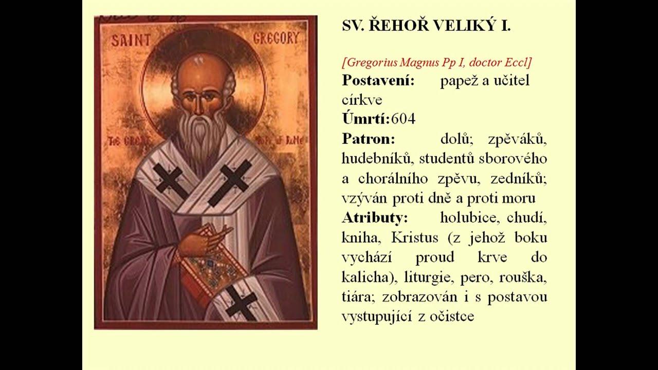 cirkevni kalendar Církevní kalendář sv. Řehoř I. 03.9. (Religious calendar)   YouTube cirkevni kalendar