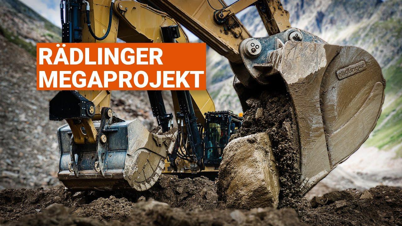 Megaprojekt im Kühtai - Megalöffel von Rädlinger Maschinen- und Stahlbau
