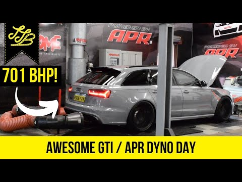 Awesome GTI / APR Dyno Day - CRAZY Audi RS6