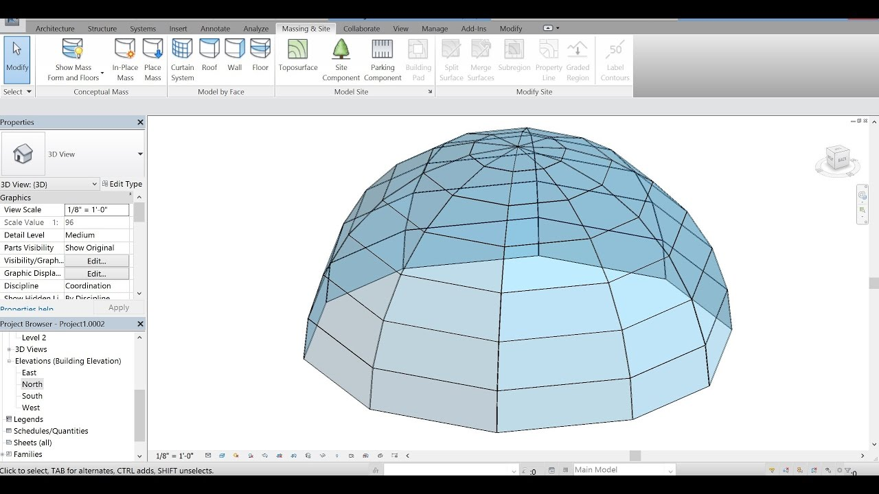 Autodesk Revit 2017 How To Create A Glass Dome Roof