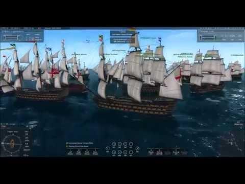 Naval Action GB vs. ES - Massive 1st Rate Santiago Port Battle