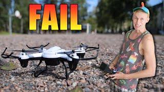 Älä lennä 80€ Dronea kotona... [GONE WRONG]