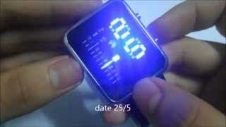 LED RPM Car Watch/Table with Blue Light Arch Dial