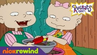 Phil and Lil Make Mud Pie | Rugrats | The Splat