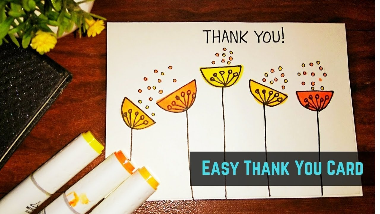 Thank You Card For Parents Thank You Card For Teacher Youtube