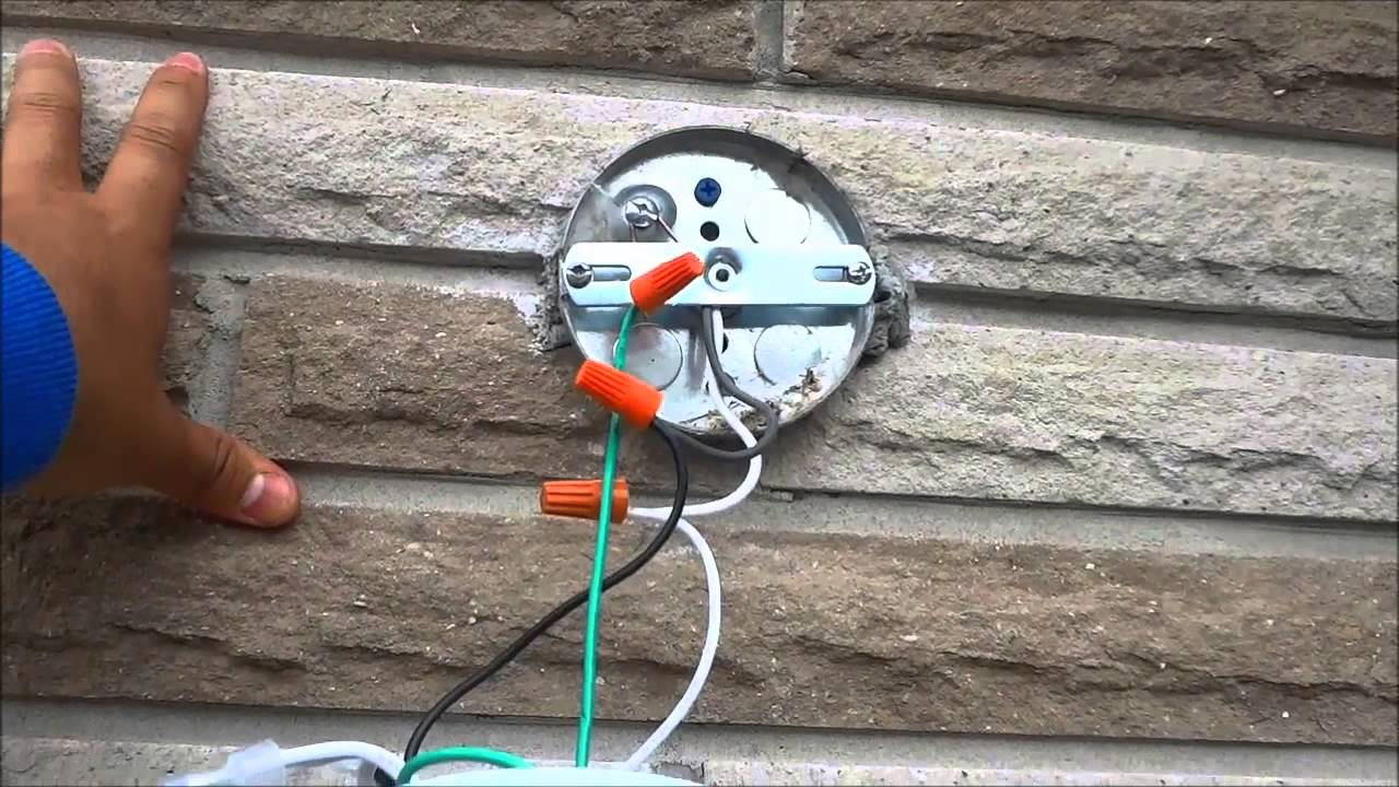 how to change an outdoor light fixture by yourself youtube wiring outdoor garage lights [ 1280 x 720 Pixel ]